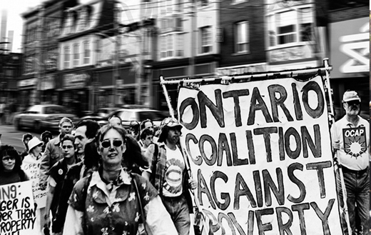 Ontario Coalition Against Poverty demo